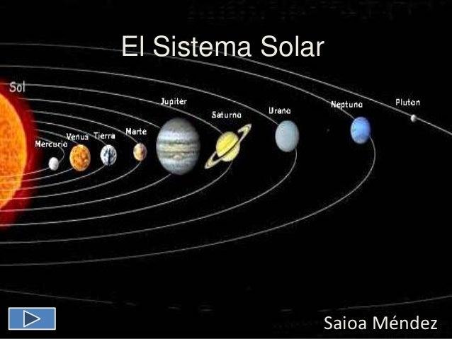 El Sistema Solar Saioa Méndez