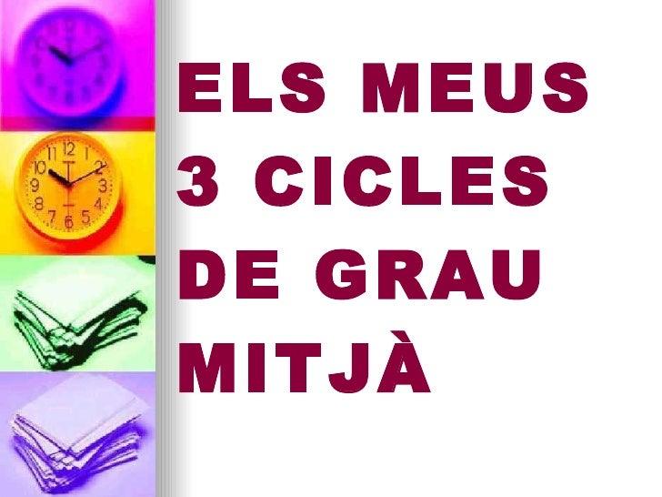 ELS MEUS 3 CICLES DE GRAU MITJÀ