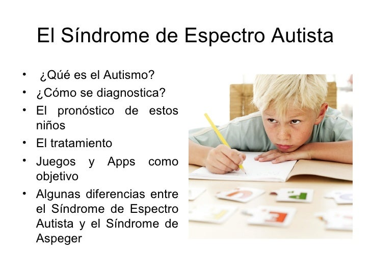 El síndrome de espectro autista