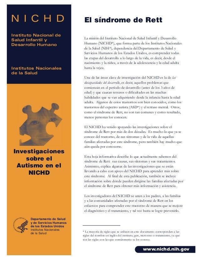 N I C H D Instituto Nacional de Salud Infantil y Desarrollo Humano Institutos Nacionales de la Salud Investigaciones sobre...