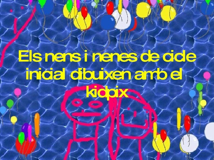 Els nens i nenes de cicle inicial dibuixen amb el  kidpix