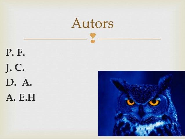  P. F. J. C. D. A. A. E.H Autors