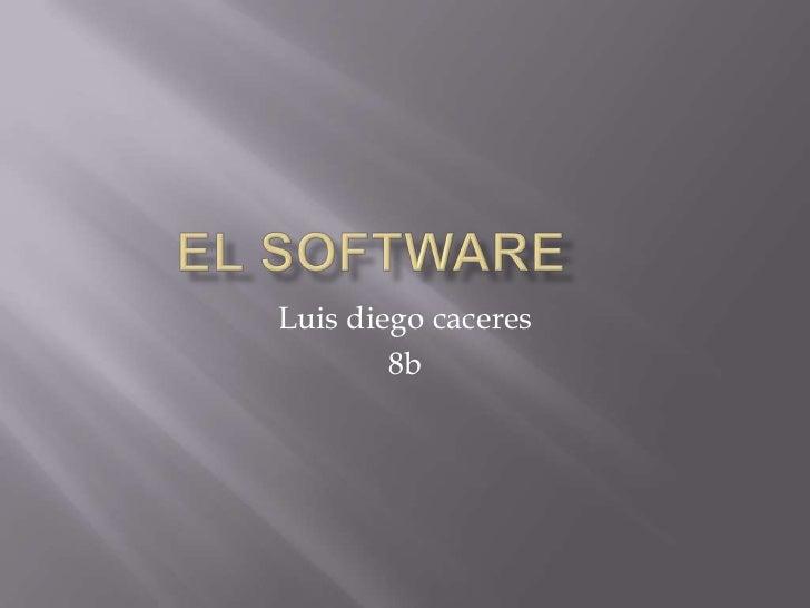 El Software<br />Luis diego caceres<br />8b<br />