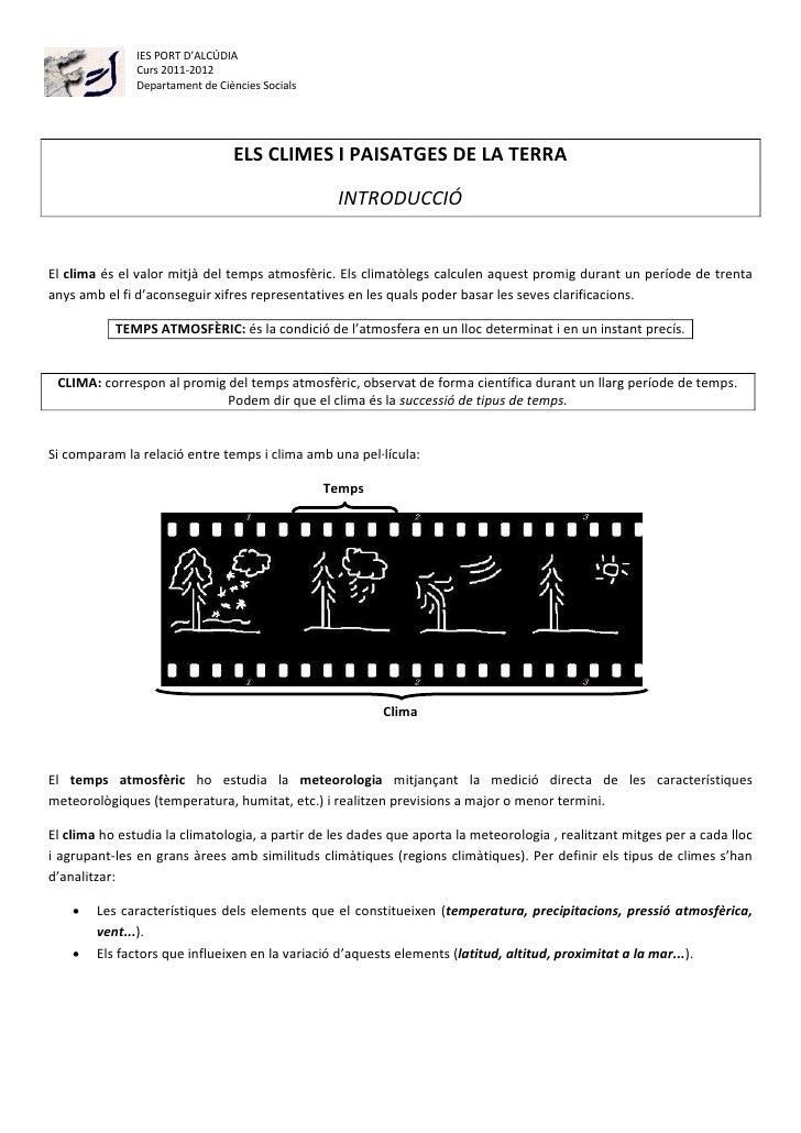 IES PORT D'ALCÚDIA               Curs 2011-2012               Departament de Ciències Socials                             ...