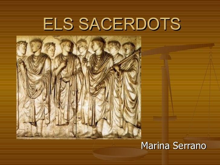 ELS SACERDOTS Marina Serrano