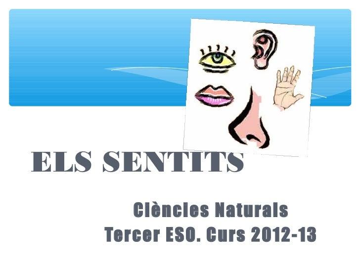 ELS SENTITS      Ciències Naturals   Tercer ESO. Curs 2012-13