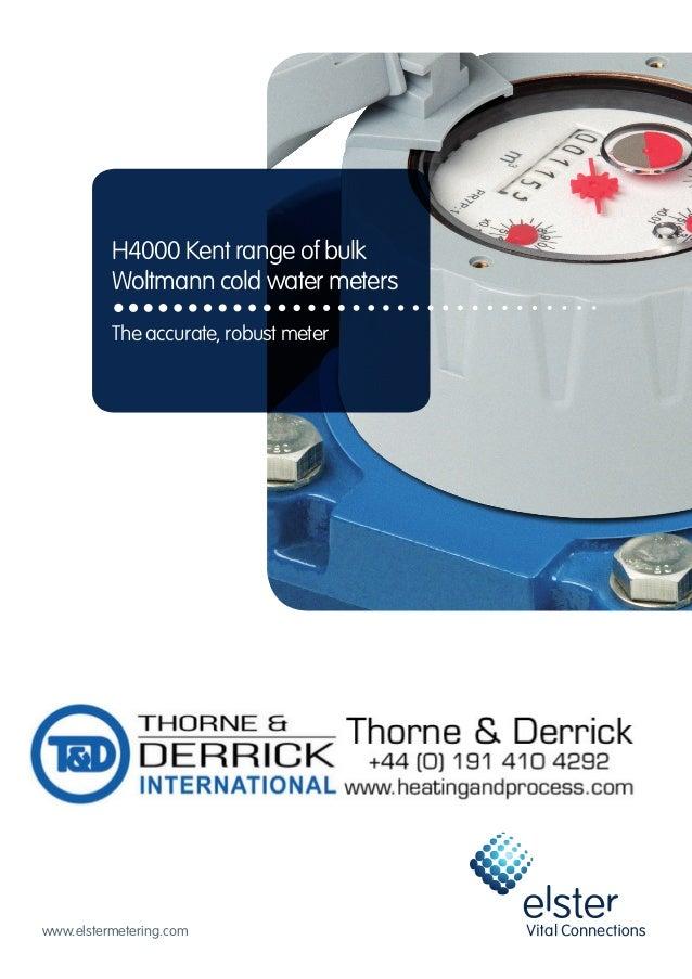 Net Meter Reading : Elster h water meter product brochure