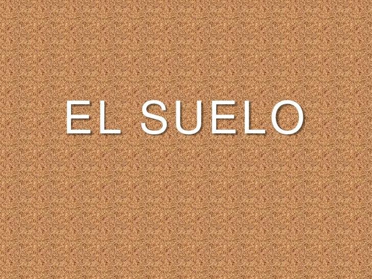 EL SUELO<br />
