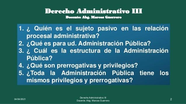 El sujeto pasivo: La Administración Pública Slide 2