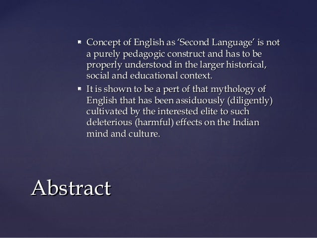 M.A. Sem.3 ELT1 Unit 1 Teaching English as 'Second Language' in India by Kapil Kapoor Slide 2