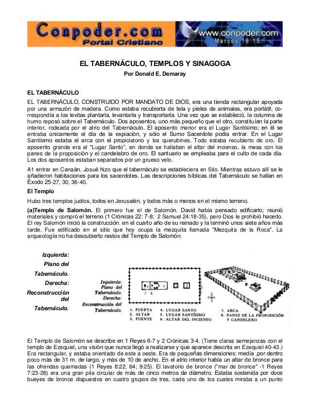 EL TABERNÁCULO, TEMPLOS Y SINAGOGA Por Donald E. Demaray EL TABERNÁCULO EL TABERNÁCULO, CONSTRUIDO POR MANDATO DE DIOS, er...