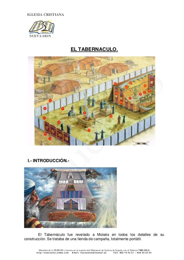 El tabernaculo y sus tipologias para hoy