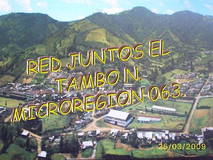 El Tambo Avances Dic Marzo Slide 1