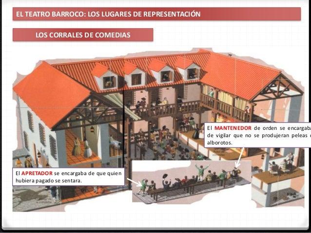 IES Miguel Catalán - Carmen Andreu 13 EL TEATRO BARROCO: LOS LUGARES DE REPRESENTACIÓN LOS CORRALES DE COMEDIAS CAZUELA Es...