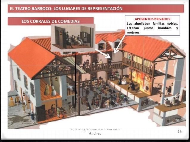 IES Miguel Catalán - Carmen Andreu 17 EL TEATRO BARROCO: LOS LUGARES DE REPRESENTACIÓN LOS CORRALES DE COMEDIAS ALOJERÍA S...