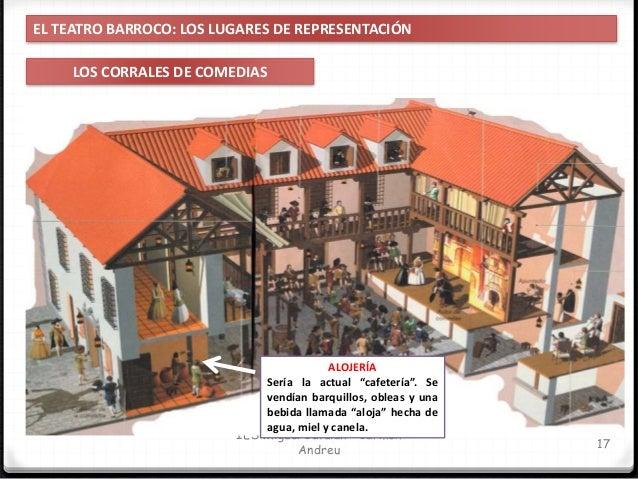 IES Miguel Catalán - Carmen Andreu 18 EL TEATRO BARROCO: LOS LUGARES DE REPRESENTACIÓN LOS CORRALES DE COMEDIAS ENTRADA Pa...