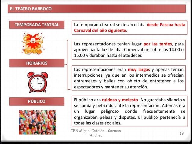 IES Miguel Catalán - Carmen Andreu 20 EL TEATRO BARROCO. LAS AGRUPACIONES TEATRALES COMPAÑÍAS DE TEATRO Las compañías teat...