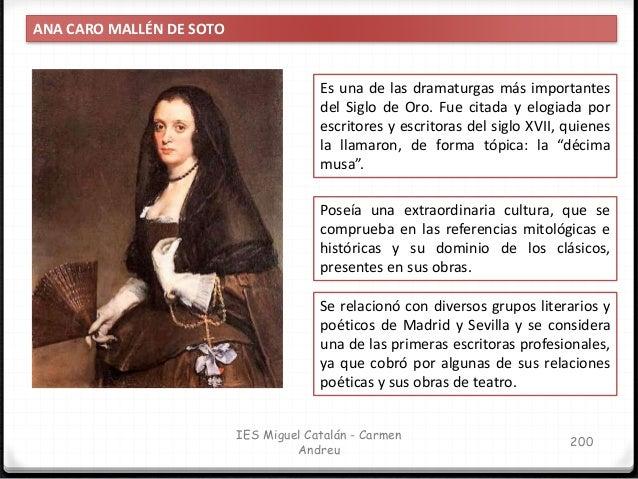 IES Miguel Catalán - Carmen Andreu 201 ANA CARO MALLÉN DE SOTO De toda la producción literaria de la autora, solamente han...