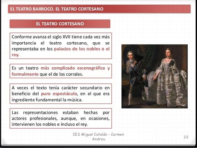 IES Miguel Catalán - Carmen Andreu 23 EL TEATRO BARROCO. EL AUTO SACRAMENTAL EL AUTO SACRAMENTAL ¿QUÉ ES UN AUTO SACRAMENT...