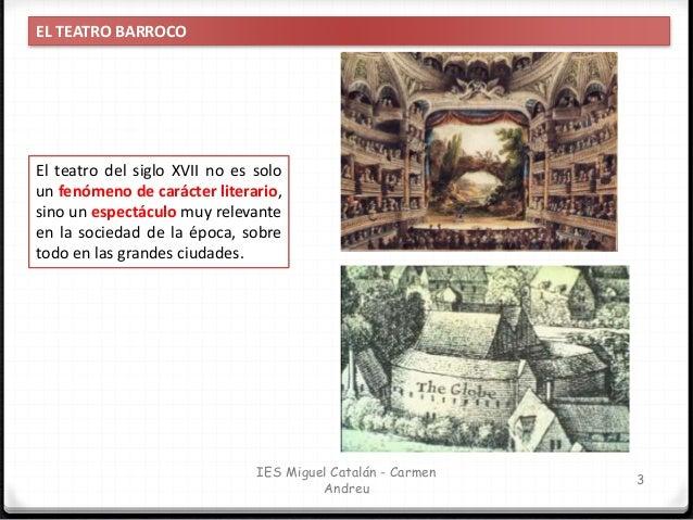 IES Miguel Catalán - Carmen Andreu 4 EL TEATRO BARROCO Teatro popular Espectáculo para entretener y divertir Locales fijos...