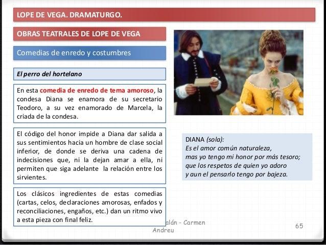 IES Miguel Catalán - Carmen Andreu 66 LOPE DE VEGA. DRAMATURGO. OBRAS TEATRALES DE LOPE DE VEGA Comedias de enredo y costu...
