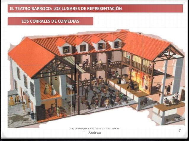 IES Miguel Catalán - Carmen Andreu 8 EL TEATRO BARROCO: LOS LUGARES DE REPRESENTACIÓN LOS CORRALES DE COMEDIAS TABLADO Ser...