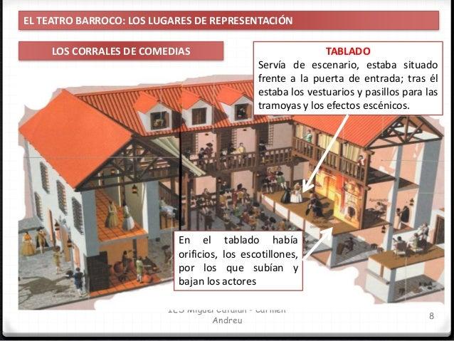 TABLADO Era desmontable en sus inicios, pero luego se hizo fijo. Los balcones superiores formaban parte del escenario y se...