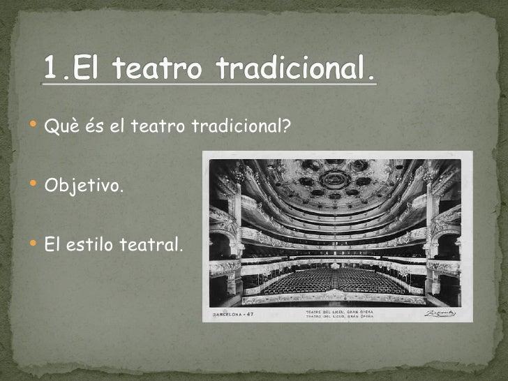 El Teatro Contemporáneo Slide 2