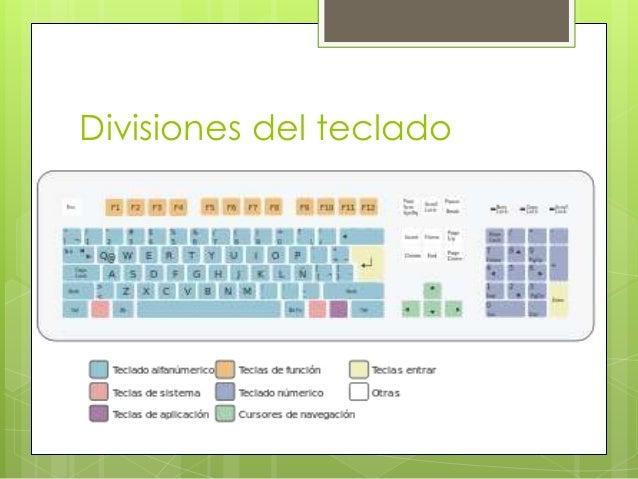 Divisiones del teclado