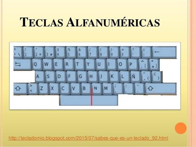 El teclado y sus partes Slide 3