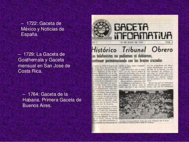 – 1807: Gaceta deGobierno en Puerto Rico.   – 1814: Diario Económico   de Puerto Rico.   1896: Aparece el primer  número d...