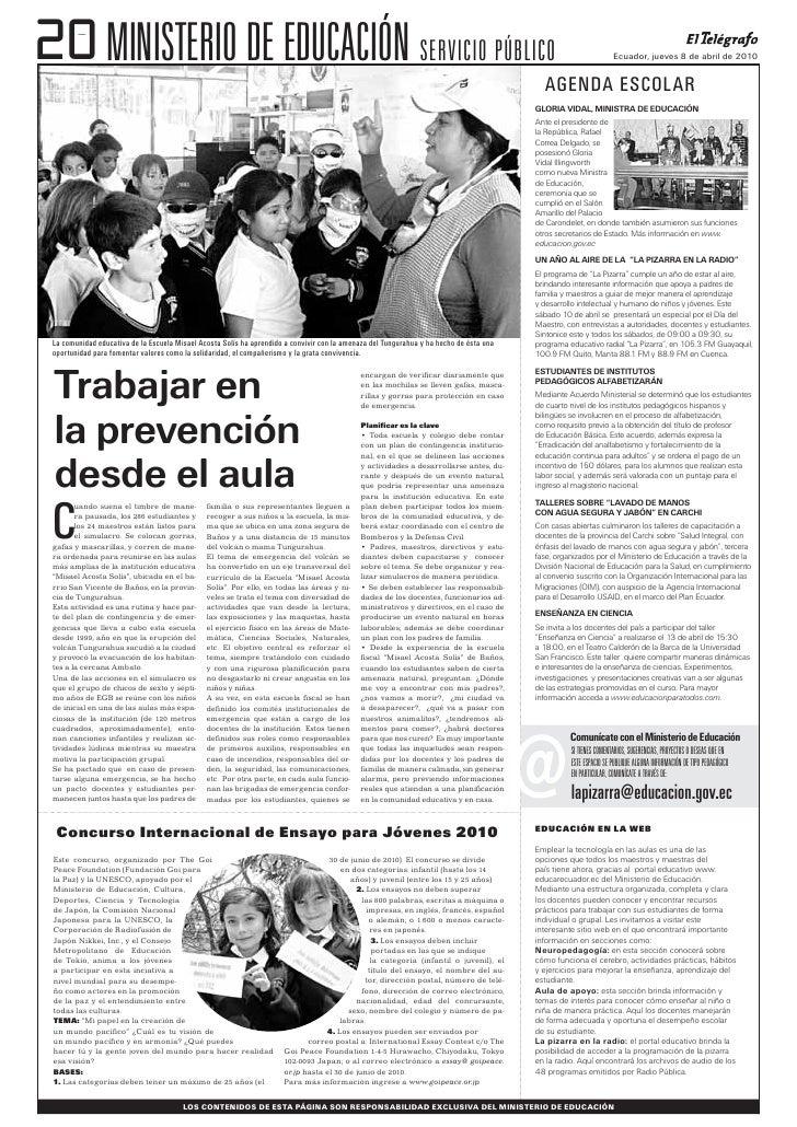 20 MINISTERIO DE EDUCACIÓN SERVICIO PÚBLICO                                                                               ...