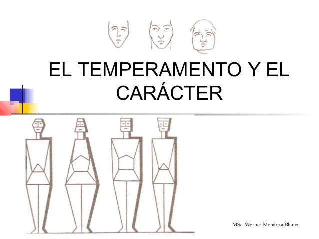 EL TEMPERAMENTO Y EL      CARÁCTER               MSc. Werner Mendoza-Blanco