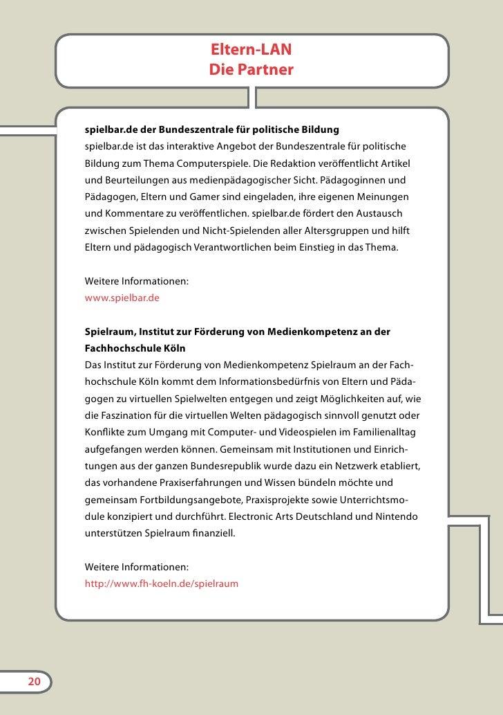 www.spielbar.de Die interaktive Plattform zum Thema Computerspiele der Bundeszentrale für politische Bildung   www.spieler...
