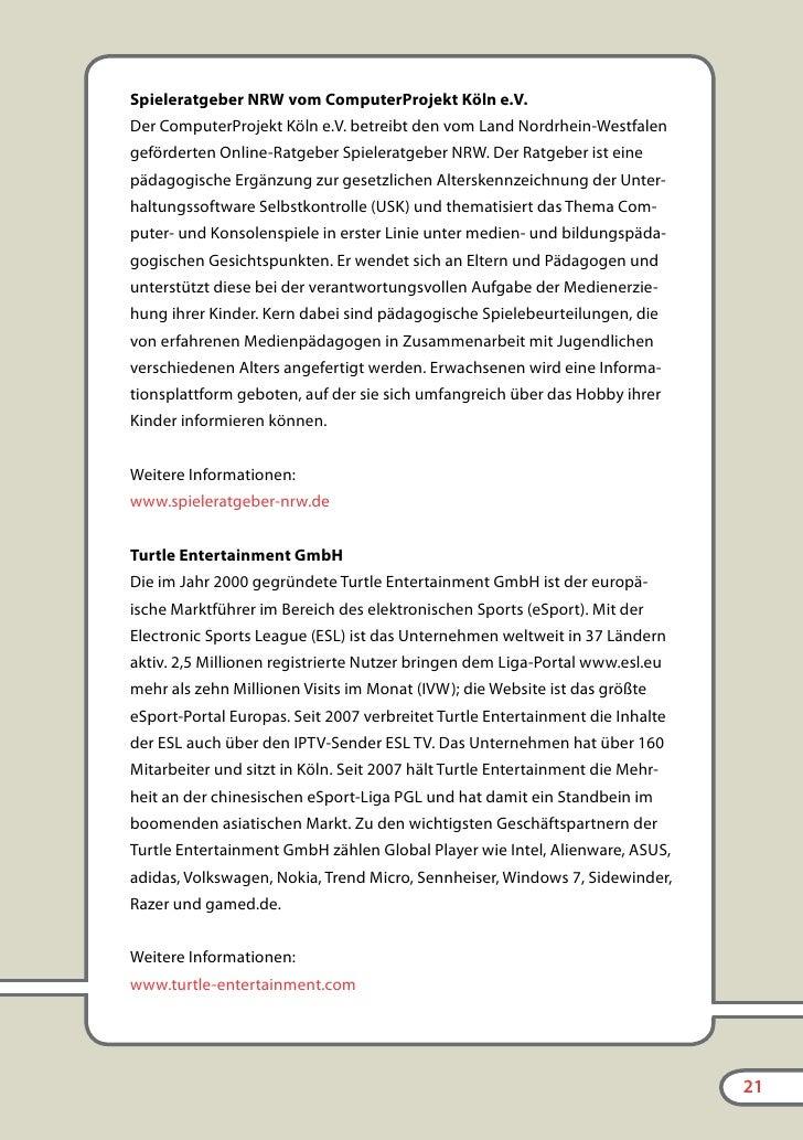 Eltern-LAN                                  Die Partner        spielbar.de der Bundeszentrale für politische Bildung      ...