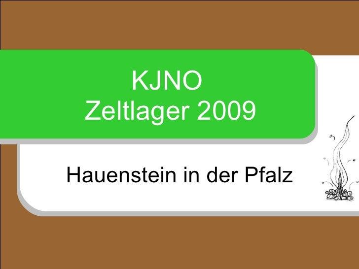 KJNO  Zeltlager 2009 Hauenstein in der Pfalz