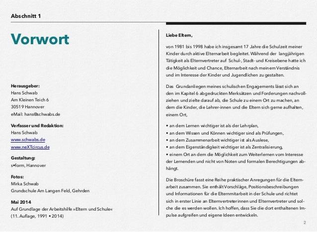 eltern & schule, Einladung