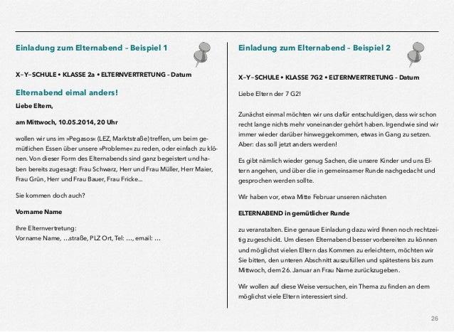 eltern & schule web, Einladung