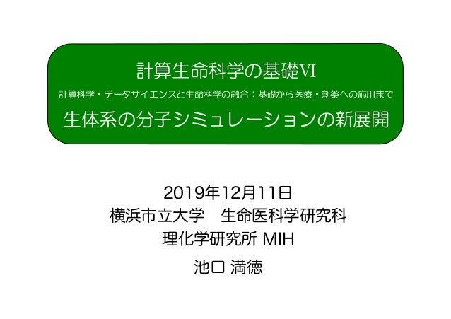 2019年12月11日 横浜市立大学 生命医科学研究科 理化学研究所 MIH 池口 満徳