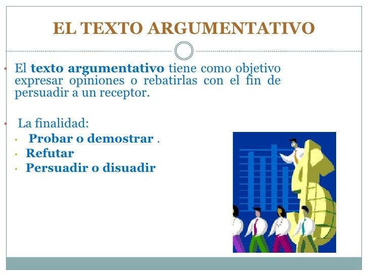El texto argumentativo for Definicion de cuarto