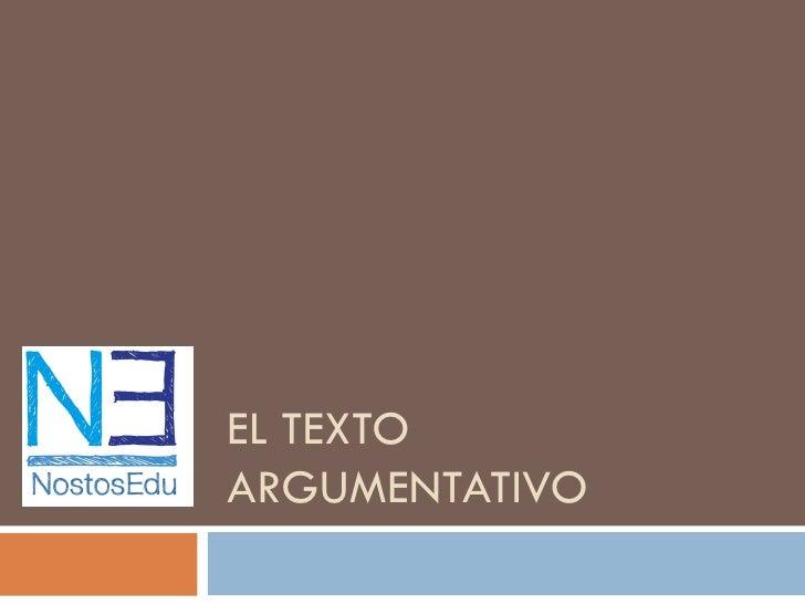 EL TEXTOARGUMENTATIVO