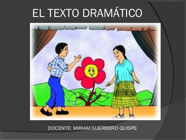 El Texto Dramatico