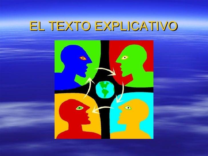 EL TEXTO EXPLICATIVO