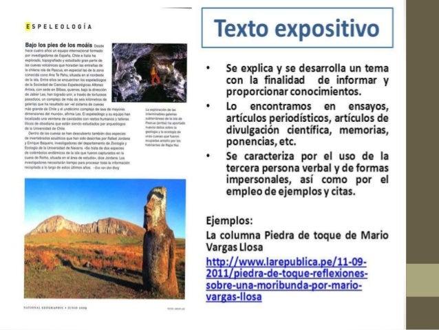 El texto expositivo Slide 2
