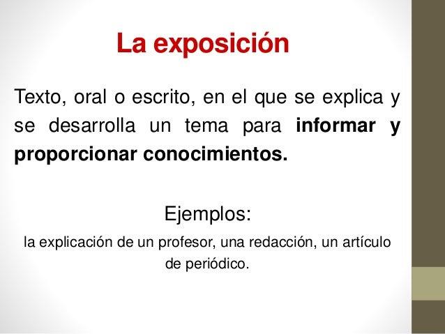 El texto expositivo Slide 3