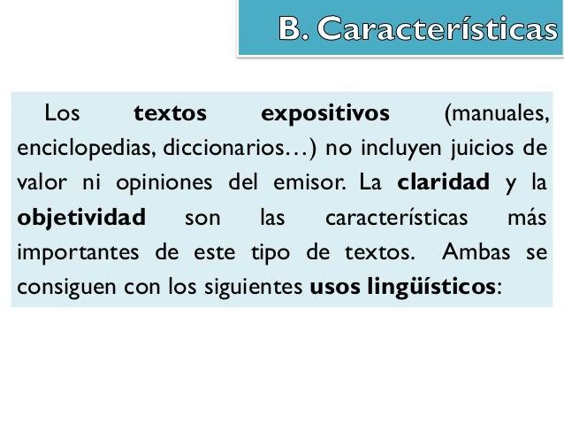 Podemos clasificar los textos expositivos según la forma que presenten (textos continuos o discontinuos) y según el públic...