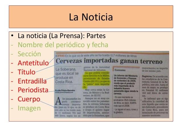 El texto informativo for Estructura de un periodico mural
