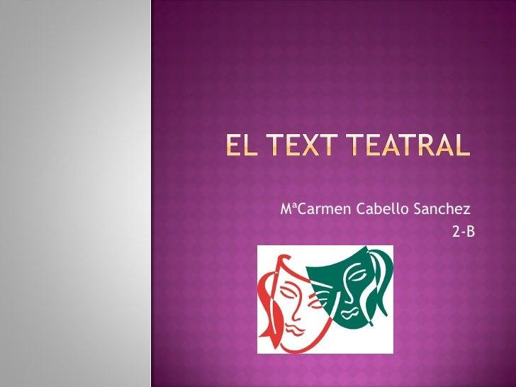 MªCarmen Cabello Sanchez  2-B