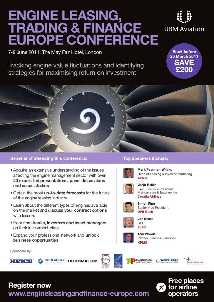 ENGINE LEASING,TRADING & FINANCEEUROPE CONFERENCE7-8 June 2011, The May Fair Hotel, London                                ...