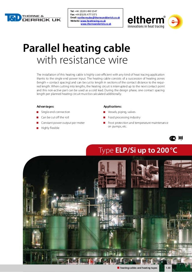 Parallel heating cable  with resistance wire  The installation of this heating cable is highly cost-efficient with any kin...